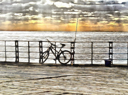 Bicycle and Rod ..Bognor Pier