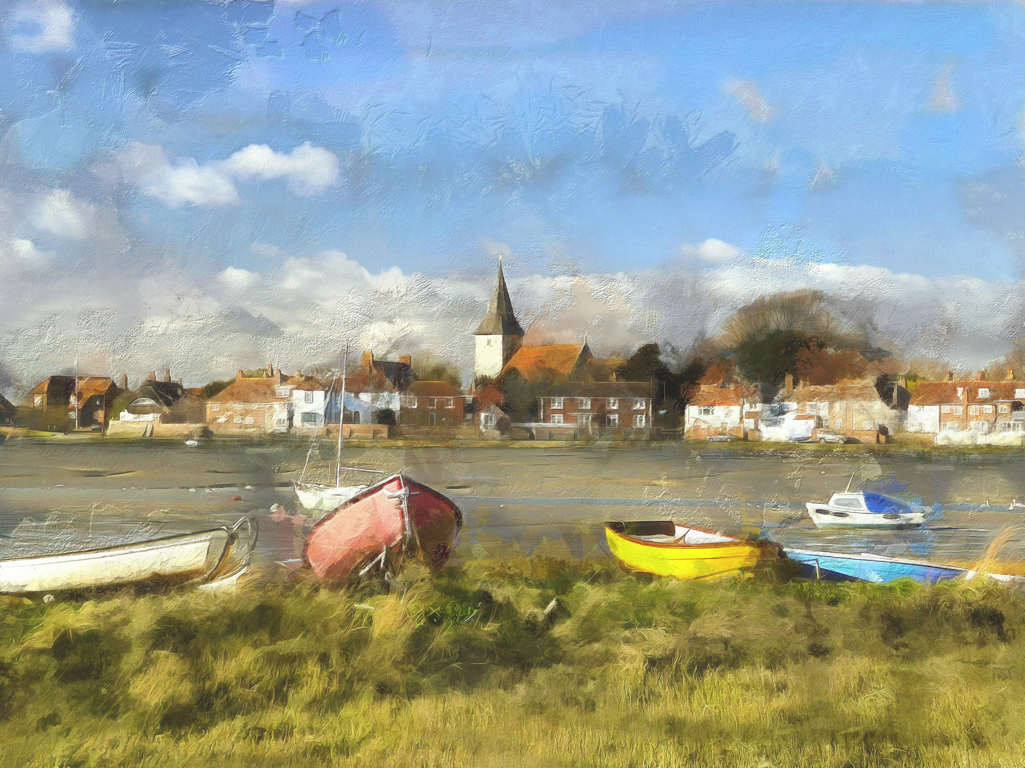 Bosham Creek with boats