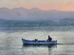 Early fishing at Kassiopi