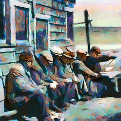 Fishermen gossiping in the sun