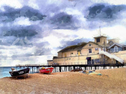 Bognor Pier with boats