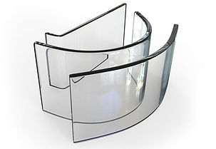 Tempered glass material curved and straight shaps.jpg