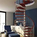 spiral stairs wood handrail.jfif