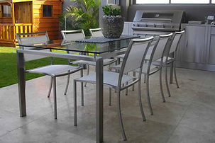 Stainless steel patio table furniture