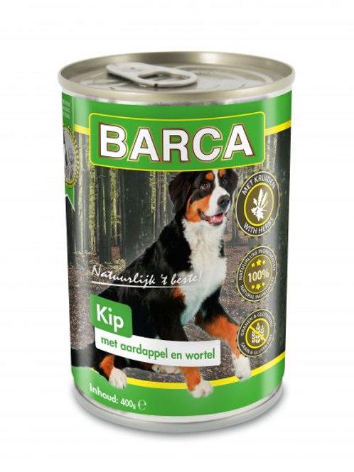 Blik Kip aardap. wortel Barca