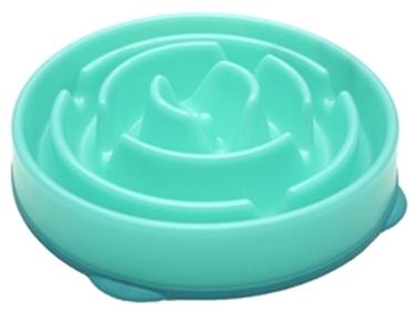 Slow feeder bowl groot blauw