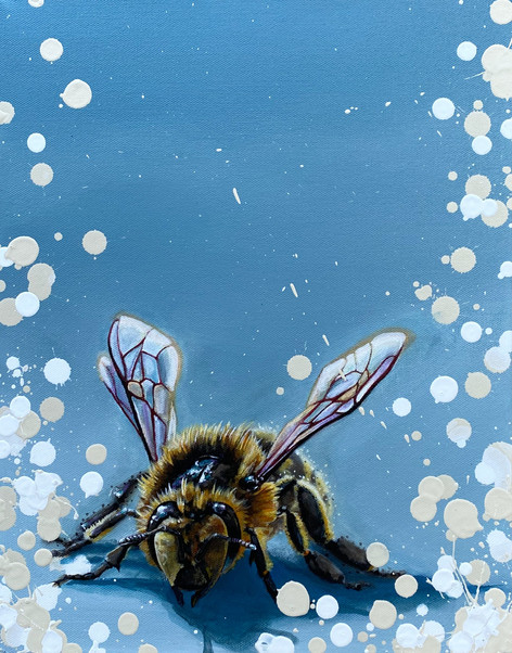 Bees on Blue Series: #1