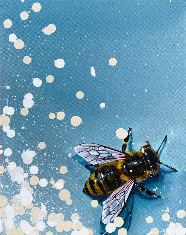 Bees on Blue Series: #2