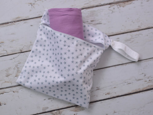 Lavender Lollie Wrap + Wet Bag Combo