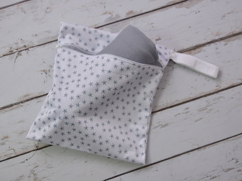 Gray Lollie Wrap + Wet Bag Combo