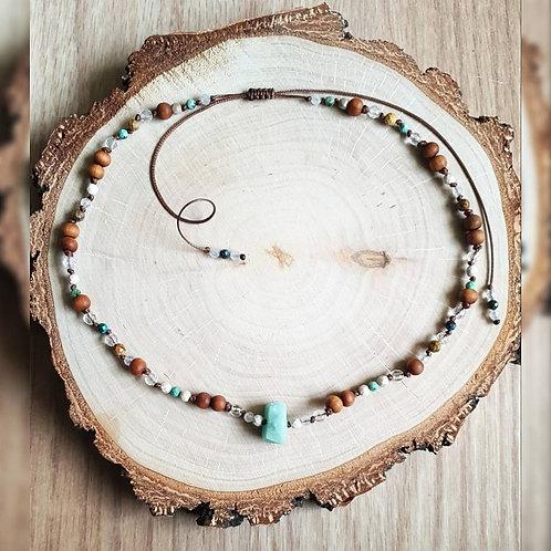 Naszyjnik z Amazonitem ~ Woda
