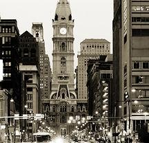 Broad street and Philadelphia City Hall