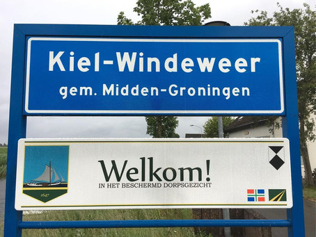 New welcome sign to Kiel-Windeweer