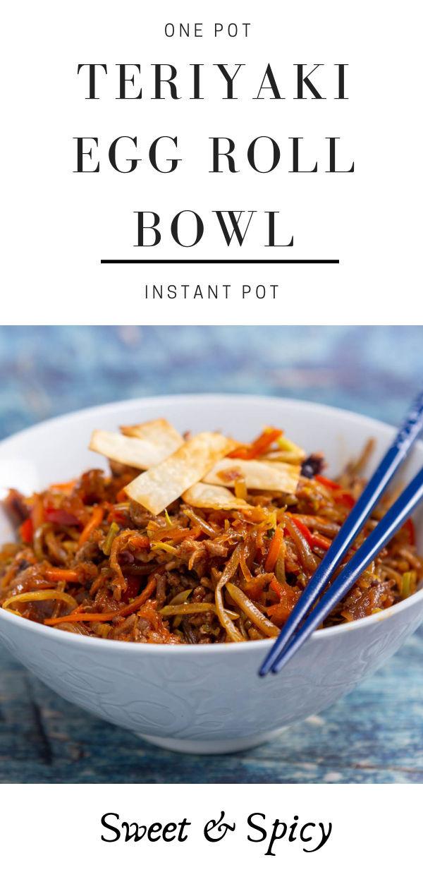 one pot teriyaki egg roll bowl