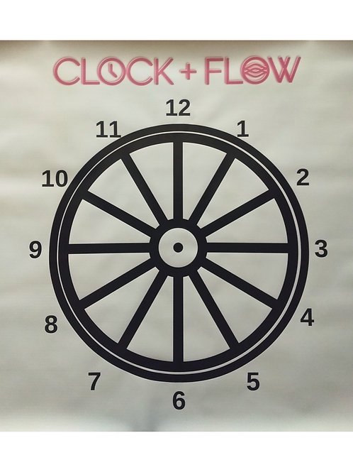 Clock and Flow Training Diagram (3ft x 3ft) Durable Vinyl