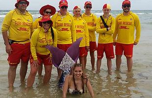 Mermaid Tarielle with Seaford Surf Life Saving Club