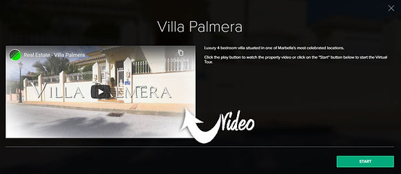 Villa Palmera start screen for Virtual T