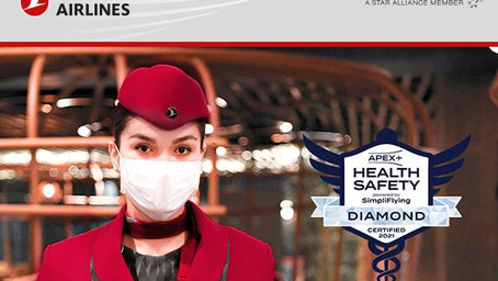 Turkish Airlines galardonada con el estatus de Diamante por sus altos estándares sanitarios