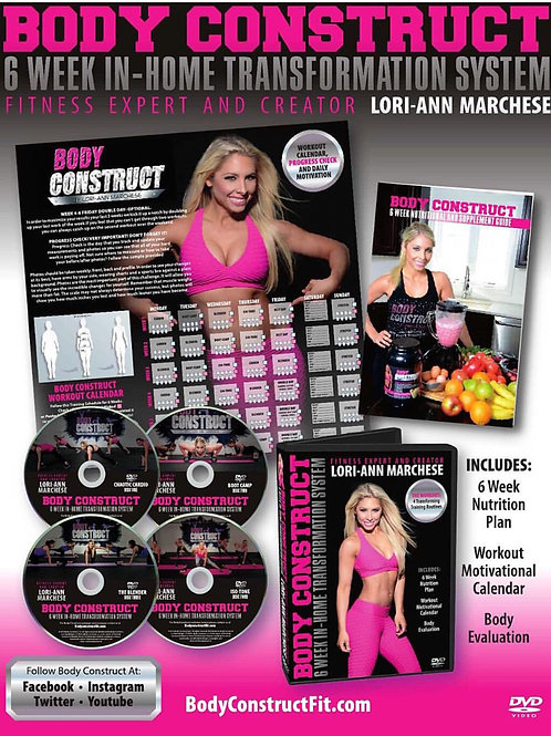 Body Construct 6 Week In-Home Transformation DVD System