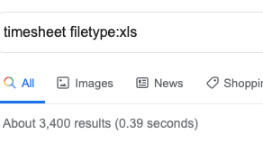 Use Filetype in your Google Searches