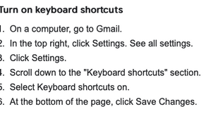 Gmail keyboard shortcuts - learn them now - PART 1