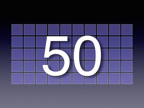 50 hr. prepaid block ($129/hr)