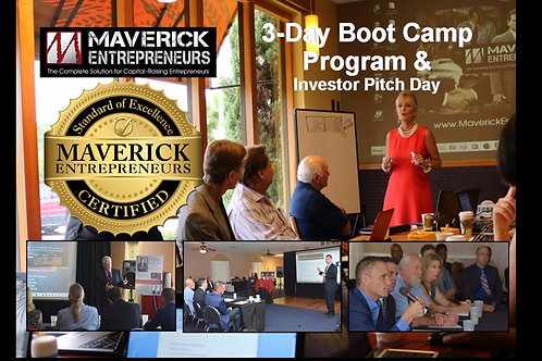 3-Day Boot Camp Program + Investor Pitch Day*