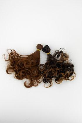 Волосы-трессы для кукол кудри, 2 шт 15 см
