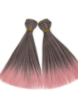 Волосы-трессы для кукол прямые, набор 2 шт