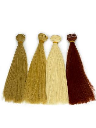Волосы-трессы для кукол прямые 20 см