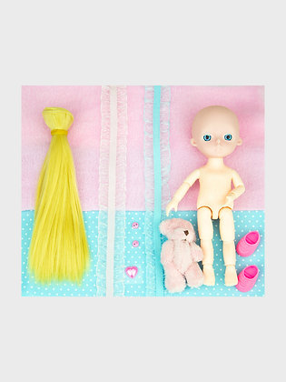 Набор материалы+шарнирная кукла НШ12