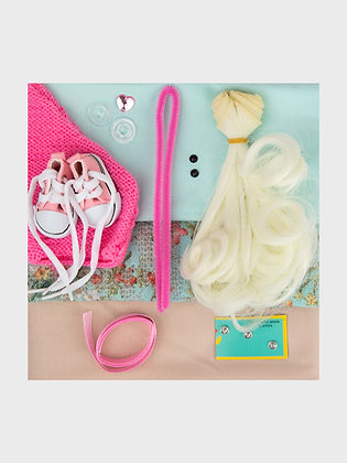 A set of materials for sewing dolls 2506