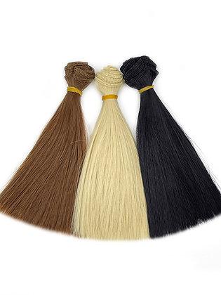 Волосы-трессы для кукол прямые, набор 3 шт