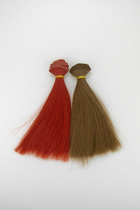 Hair for dolls. Set of 2 pieces straight
