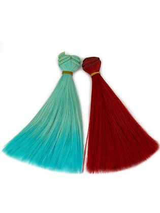 Волосы-трессы прямые для кукол, набор 2 шт