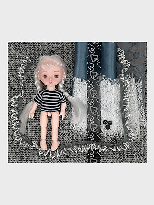 Set of materials + ball-jointed doll NSh07