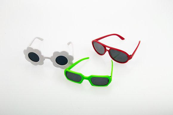 Очки для кукол BJD. Набор 3 шт. Цвет: красный, белый, зеленый.