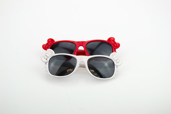 Очки для кукол BJD. Набор 2 шт. Цвет: красный, белый.