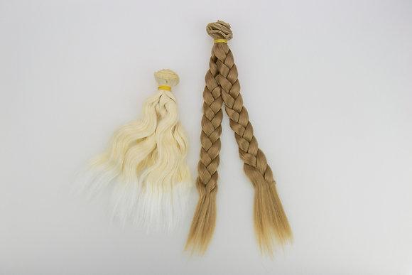 Волосы-трессы для кукол. Набор 2 шт.