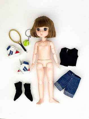 Набор материалы+шарнирная кукла НШ3003