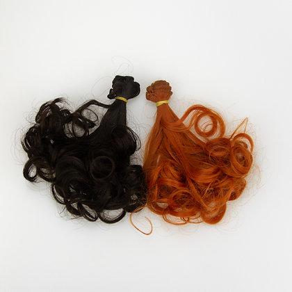 Hair for dolls. Set of 2 pcs curls