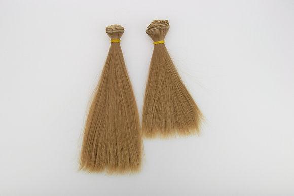 Волосы-трессы для кукол. Набор 2 шт прямые.