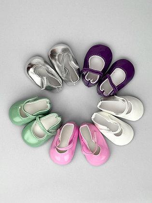 Туфли для кукол лакированные 6,5 см