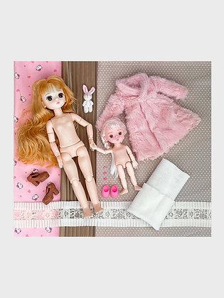 Набор материалы+шарнирная кукла НШ11