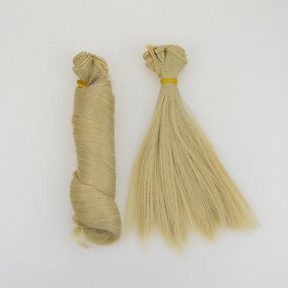 Волосы-трессы для кукол. Набор 2 шт локон+прямые.