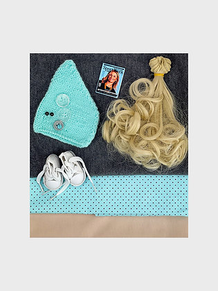 A set of materials for sewing dolls 2509