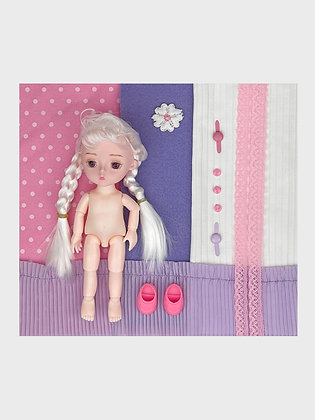 Set of clothes + ball-jointed doll NSh08