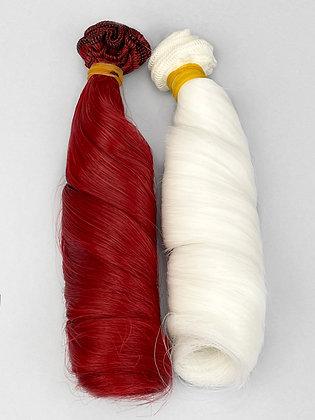 Волосы-трессы для кукол локон, набор 2 шт