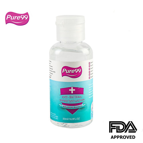 Pure99 Anti-Bacteria Disinfectant Rinse-Free Hand Sanitizer,70% Alcohol, 50 ML