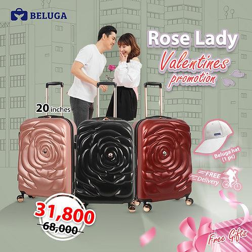 Beluga Rose Lady 20 Inches Luggage (Gift - Beluga Hat)